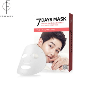 FORENCOS Song Joong ki Mask Pack[Tuesday] 7 Days Mask Set (25mlx10pcs), FORENCOS